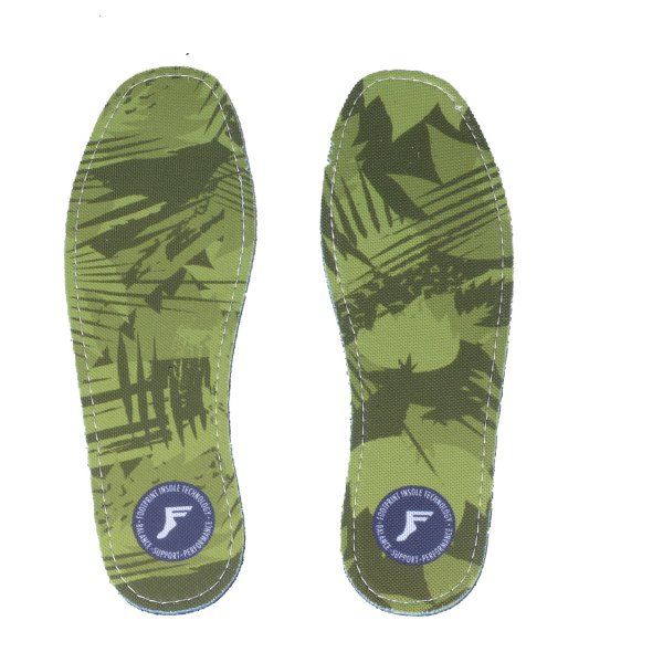 Footprint Insoles | Flat 3mm | Camo Green