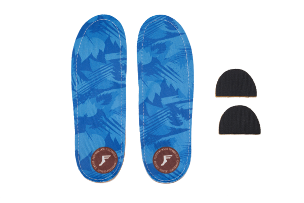 Footprint Insoles   Orthotic Low   Camo Blue